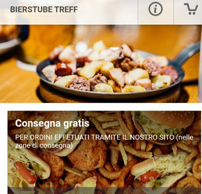 Ordinazione online birreria Bierstube Treff a Vicenza 1
